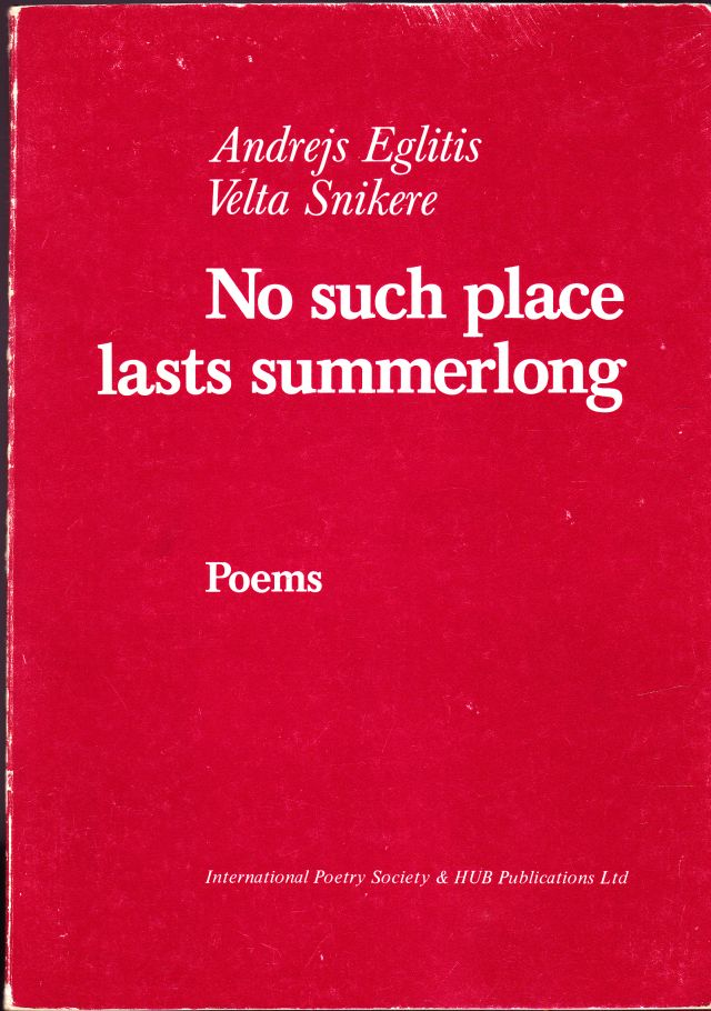 Image for No Such Place Lasts Summerlong  Poems