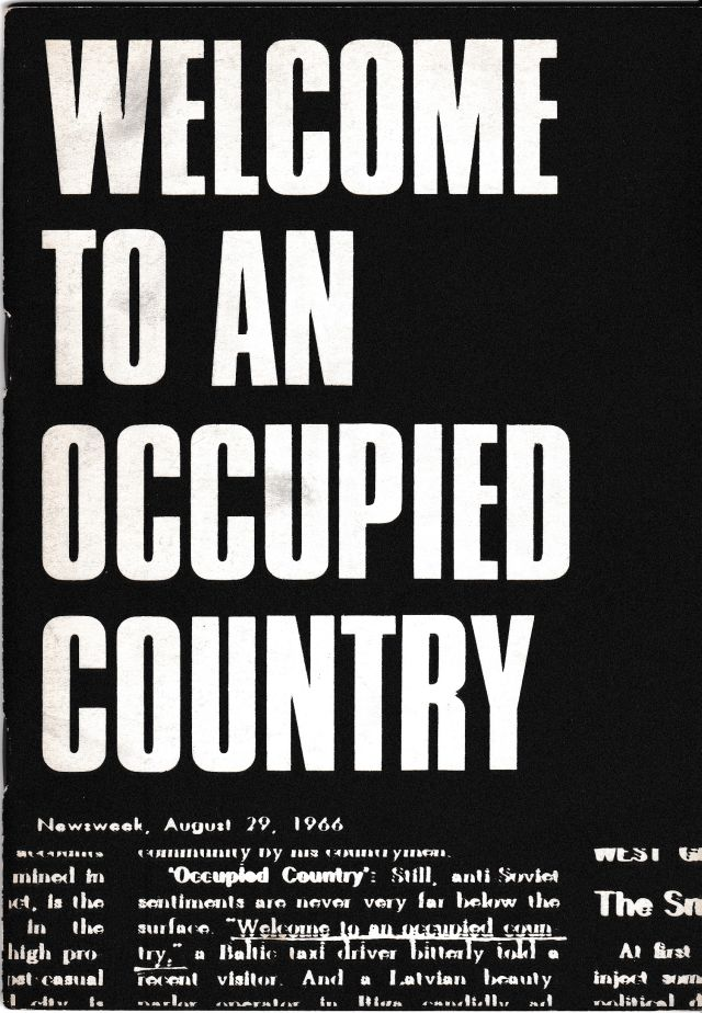 Image for Welcome to an Occupied Country