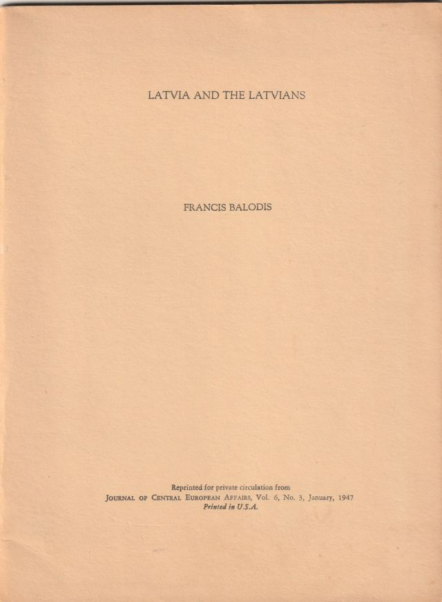 Image for Latvia And The Latvians