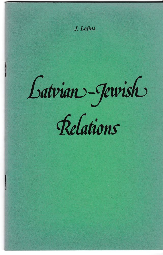 Image for Latvian - Jewish Relations