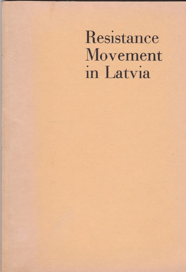 Image for Resistance Movement in Latvia