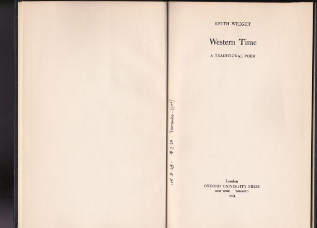 Image for Western Time  A Traditional Poem